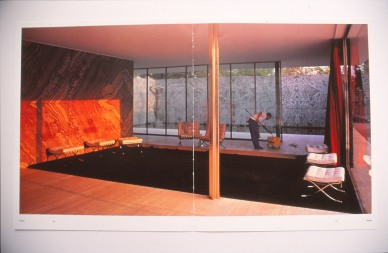 'Morning Cleaning, Mies van de Rohe Foundation, Barcelona' - Jeff Wall Photo ©
