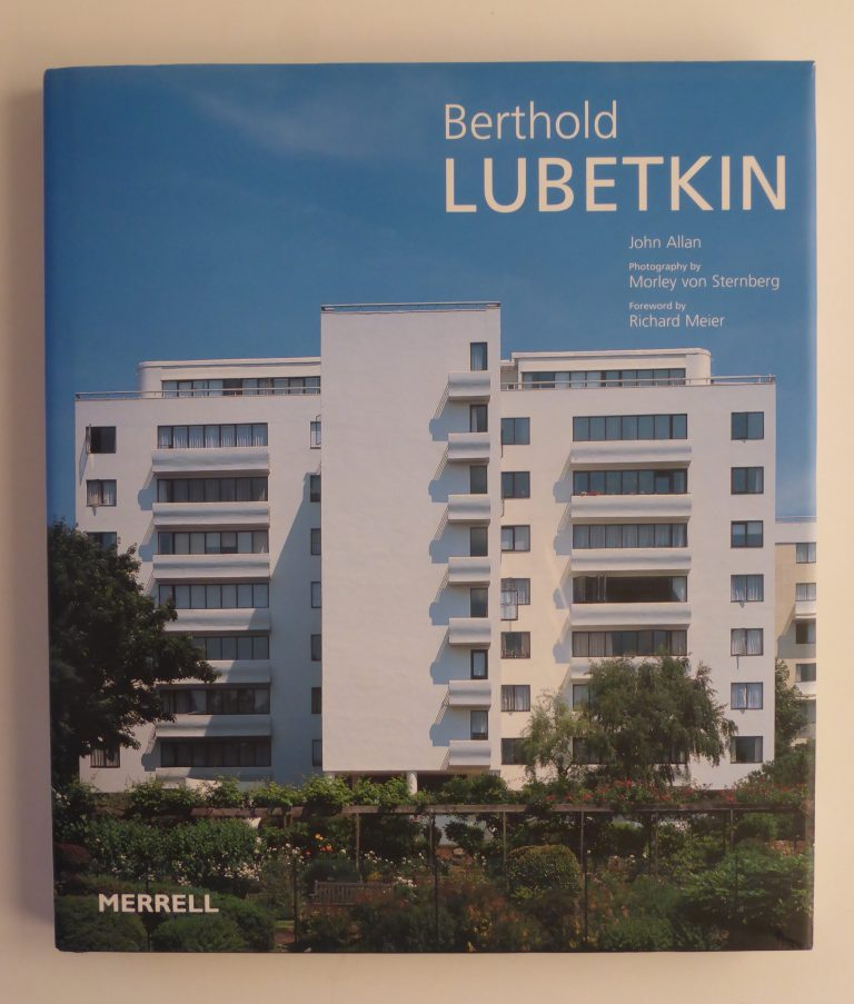 Berthold Lubetkin book by John Allan published by MERRELL, London 2002