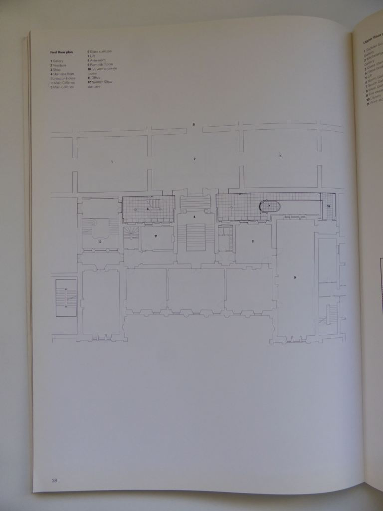 Sacker Gallery, London by Foster + Partners_Blueprint Publication 1992_lower plan ©