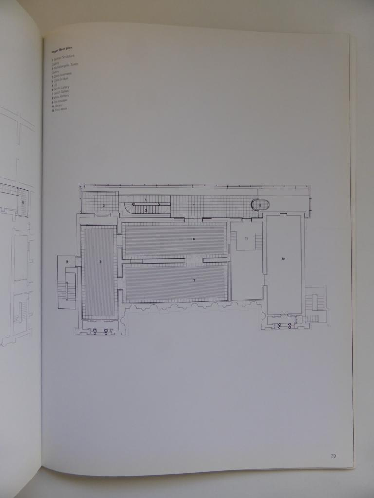 Sacker Gallery, London by Foster + Partners_Blueprint Publication 1992_upper plan ©