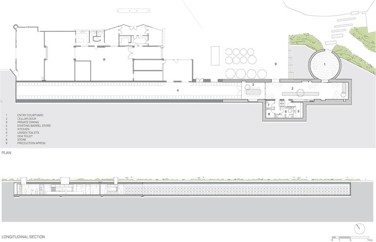 TarraWarra Cellar Door_Plan and Section